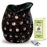 Black Color Electric Aroma Diffuser With Tea Tree Essential Oil - Design 8