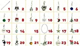 Christmas Advent Calendar Charm Necklace Bracelet DIY 24 Charms Set Fashion Jewelry For Christmas Party