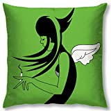 Right Digital Printed Clip Art Collection Cushion Cover RIC0016a-Green