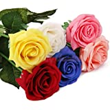 Generic Pink : 1x Artificial Vivid Single Stem Rose Flower Plant Wedding Party Decoration DIY