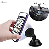 Ansee Universal Magnetic Car Mount Car Holder Rotatable Windshield Car Dock For Iphone 6s 5s Samsung Galaxy S6...