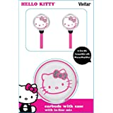 Hello Kitty 12309P-BLK-TRU Earbuds With In-Line Mic And Case