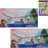 2 - Pack Disney Frozen Charm Bracelet Gift Set For Kids - 2 Frozen Charm Bracelets (Featuring Anna A
