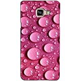 PrintVisa Designer Back Case Cover For Samsung Galaxy On Max (Pink Water Droplets Pattern)