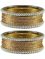 Vidhya Kangan Golden Color Brass Bangle Size-2.10