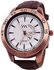 Watch Me White Men Genuine Leather Swiss Wrist Watch Watch Me-0031-Wx