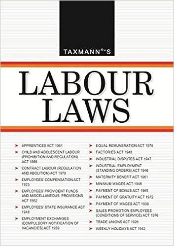 Labour Laws 2017 edition book