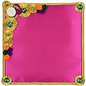 Festivities Satin Decorative Tray (28 Cm X 24 Cm X 28 Cm, FE06)