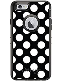 CUSTOM Black OtterBox Defender Series Case For Apple IPhone 6 Plus 6S Plus 5.5 Model - White Red Polka Dots W - B00VMSM2WS