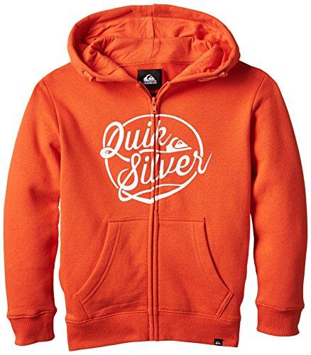 Quiksilver Go Team Go - Sudadera con capucha, color rojo, talla L