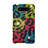 HHI Full Diamond Graphic Case For Nokia Lumia 820 - Colorful Leopard (Package Include A HandHelditems Sketch Stylus...