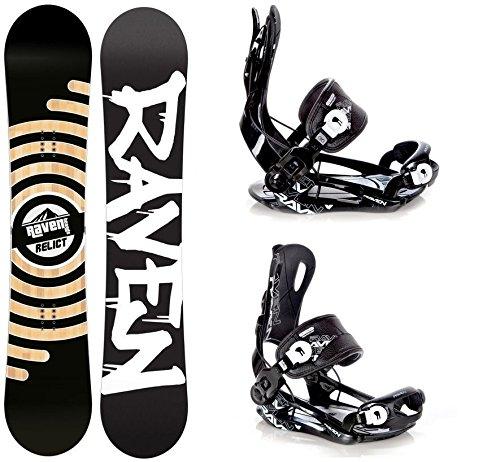Snowboard Set: Snowboard Raven Relict Rocker 2017 + Bindung Raven Fastec FT270 Black L