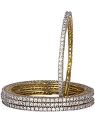 Bagga Jewels Golden Coloured Copper Bangle Set For Women(Pack Of 4) (BAG-Style9)