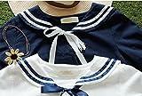 Lolita Harajuku Students Sailor Dress Costume School Uniform Dress White/blue (blue)