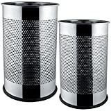 King International- Stainless Steel Perforated Open Dustbin/ Stainless Steel Garbage Bin/Medium And Large/ - 7...