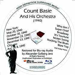 Count Basie And His Orchestra (1940) Restored For Blu-ray Audio Featuring Audio Only and Video Disc Produced with Short Films by Charly Chaplin