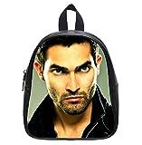 Teen Wolf Derek Hale Tyler Hoechlin Custom Kid's Black Backpack School Bag (Small)