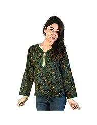 Jaipur RagaDesigner Black Girls Indian Pure Cotton Kurti Black Cotton Kurti