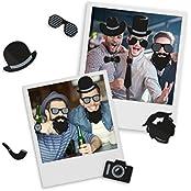Mustard Hipster Fridge Magnet - Set Of 48 Funny Fridge Magnets With Hipster Designs