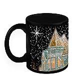 Christmas Gifts HomeSoGood Magical Christmas Home Black Ceramic Coffee Mug - 325 Ml