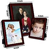 Elegant Arts & Frames Set Of 3 Silver Metal Photo Frames 5 X 7 , 8 X 6 , 10 X 8 - B01IKORDB6