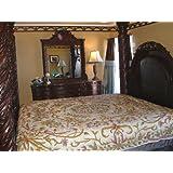 Crewel Pillow King Shams Art Nouveau Peach Puff Silk Organza (20X36)