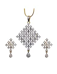 Sheetal Jewellery Silver & Golden Brass & Alloy Pendant Set For Women - B00TIH05LK