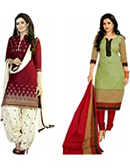 Shiroya Brothers Women's Cotton Printed Unstitched Regular Wear Salwar Suit Dress Material (Combo Pack Of 2)(Shiroya...
