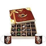 Chocholik Belgium Chocolates - Beautiful 20 Pc Mix Assorted Chocolate Box With Diwali Special Coffee Mugs - Diwali...
