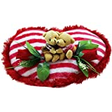 Tickles Red Couple Teddy Bear Sitting On Heart Valentine Stuffed Soft Plush Toy Love 35 Cm