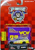 1998 - Racing Champions - NASCAR 50th Anniversary - No. 23 WCW Pontiac Grand Prix - 1:64 Scale Die Cast Replica Car, Collectible Card and Display Stand