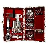 Bar Accessories | Mega Bar Set | Portable Leatherette Briefcase Bar Set | Bar Set | Bar Set For Picnic | Bar Set... - B01BI0KV5O