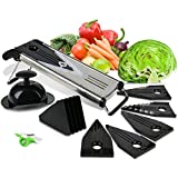 Mandoline Slicer With Blade Guard, Premium Stainless Steel Fruit And Vegetable Cutter, Peeler And Julienne Slicing...