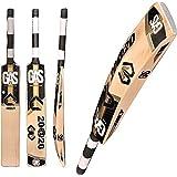 GAS 20 @ 20 Unisex Wooden English Willow Cricket Bat Yellow & Black