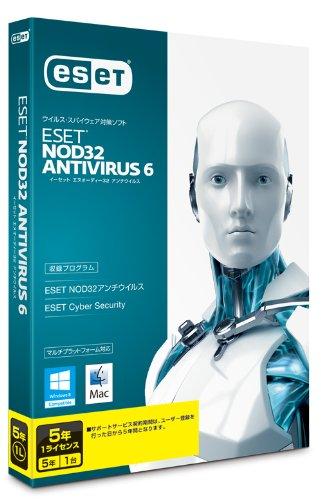 ESET+NOD32アンチウイルス+V6.0+Windows%2FMac対応+5年1ライセンス