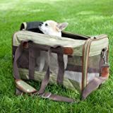 Sherpa Original Deluxe Cat and Dog Carrier, Small, Olive and Brown