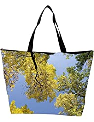 Snoogg Autumn Trees Against The Sky Waterproof Bag Made Of High Strength Nylon