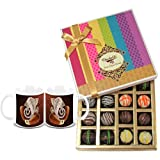 Chocholik Belgium Chocolates - Signature Collection Of Truffles Gift Box With Diwali Special Coffee Mugs - Gifts...