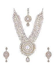 Nimble Golden Metal Choker Necklace Set For Women - B00XVMJO5Q