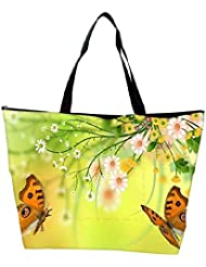 Snoogg Butterfly Around The Summer 2601 Waterproof Bag Made Of High Strength Nylon
