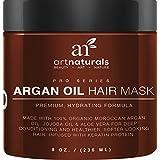 Art Naturals Argan Oil Hair Mask, Deep Conditioner 8 Oz, 100% Organic Jojoba Oil, Aloe Vera & Keratin, Repair...
