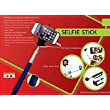 Extendable Selfie Stick With Aux Cable Hand Held Monopod For Apple IPhone / Android Mobiles / Cameras