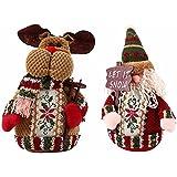 Generic Elk : Hot Sake Santa Claus Elk Design Xmas Tree Hanging Ornament For Home Decor Hanging Pendant Christmas...