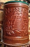 BROWN Casino HandTooled Leather Dice Cup Shaker Craps Cubilete 5 dice