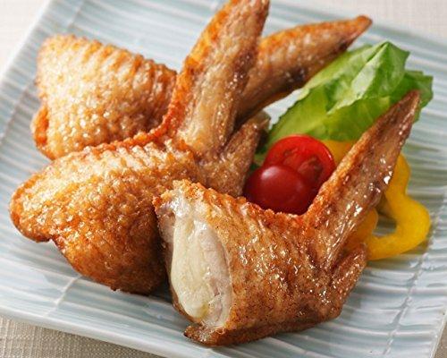 レンジでチンですぐに食べれる! 揚げずに美味しい 焼き手羽先チーズ 手羽餃子 (5本入り×2袋)