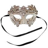 Sliver Warrior Roman Greek Hercules Design Venetian Men Masquerade Mask - Silver