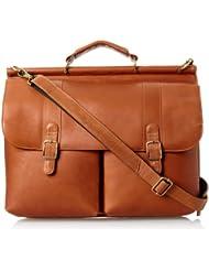David King & Co. Dowel Laptop Briefcase, Tan, One Size