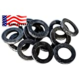 """Garden Hose Heavy Duty Rubber Washer 12 Pack MADE IN USA High Quality Aero Space """"Real Rubber"""" Used By Aerospace..."""