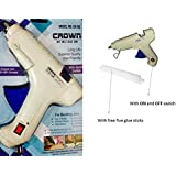 Glue Gun - Trigger Feed Hot Melt Glue Gun With Indicator And ON & OFF Switch - 40 Watt - Coated Nozzle - Multi...