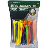 "JEF World Of Golf JR142 2-3/4"" No Resistance Tees (40 Pack), Multi-colored"
